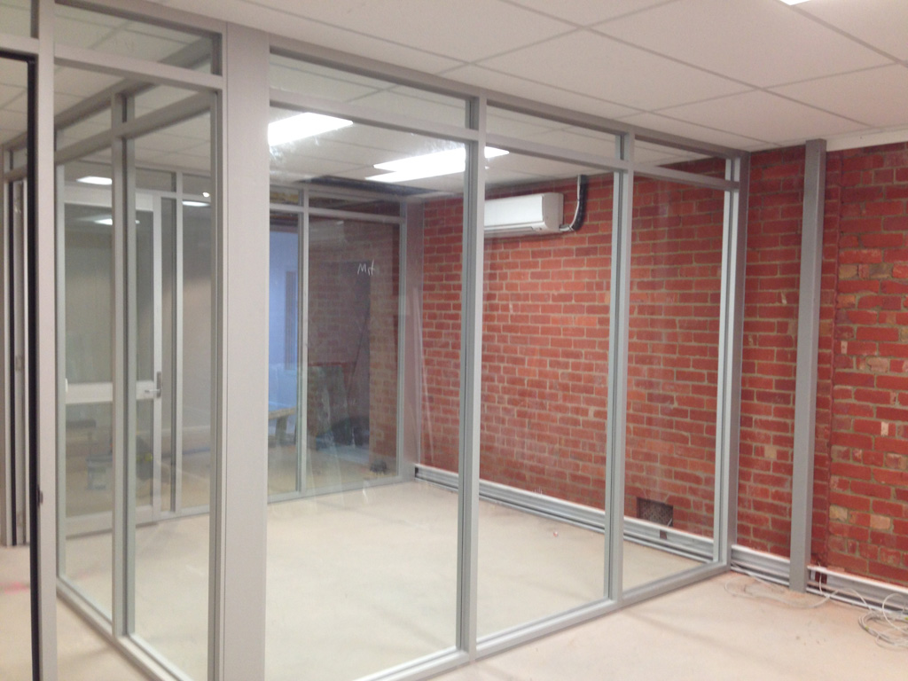 Glass office partitions geelong walls wall panels for Glass walls